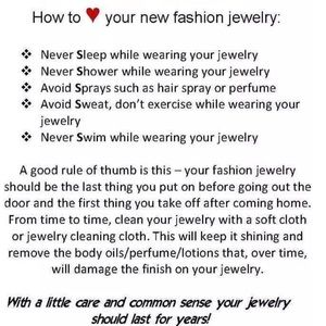 Jewelry - HOW TO CARE FOR YOUR HANDMADE AND FASION JEWELRY